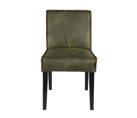 BePureHome Spisebordsstol Rodeo grøn læder 83x45x61cm