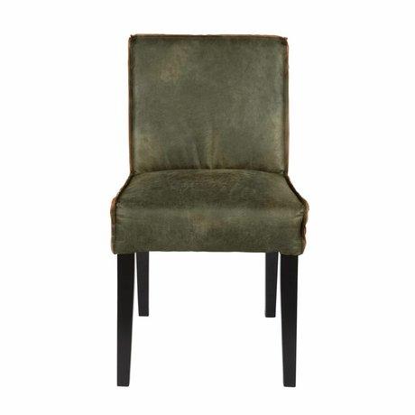 BePureHome Esszimmerstuhl Rodeo grün Leder 83x45x61cm