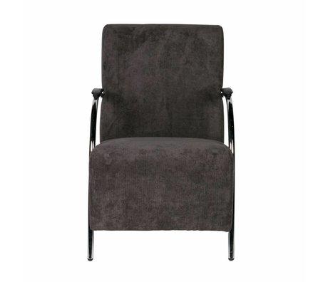 LEF collections Halifax poltrona grigio antracite a costine 90x56x85cm tessile