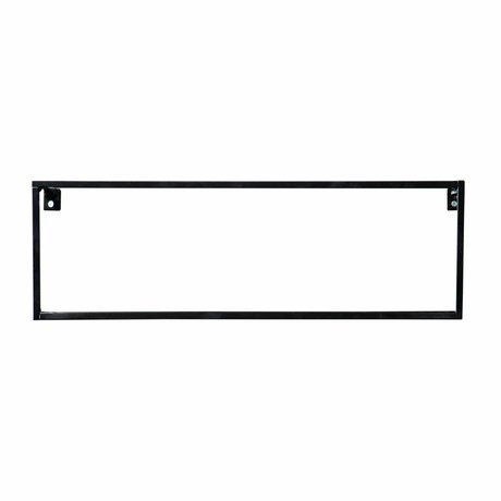 LEF collections Estantería de pared de metal negro Meert 16x50x8cm