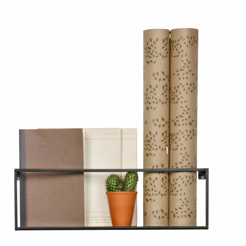 this meert wall shelf of lef collections seem to be inspired by one pallet cool design and processed in black metal ask a few magazines in the closet