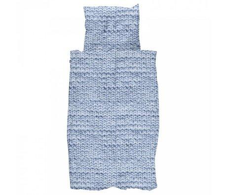 Snurk Beddengoed Duvet Twirre blau Flanell Baumwolle in 140x200 / 220cm