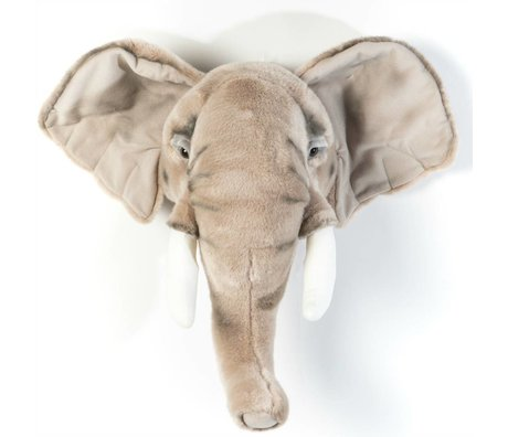 Wild and Soft Tier Elefant George grau Textil 44x59x25cm