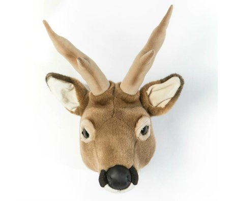 Wild and Soft Tier Hirsch Toby Brown Textil 32x23x46cm