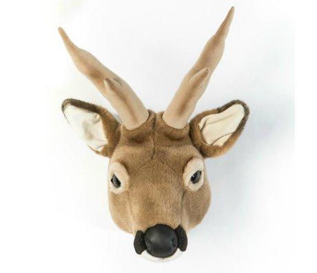 Wild and Soft Tier Hirsch Toby Brown Textil 32x23x46cm