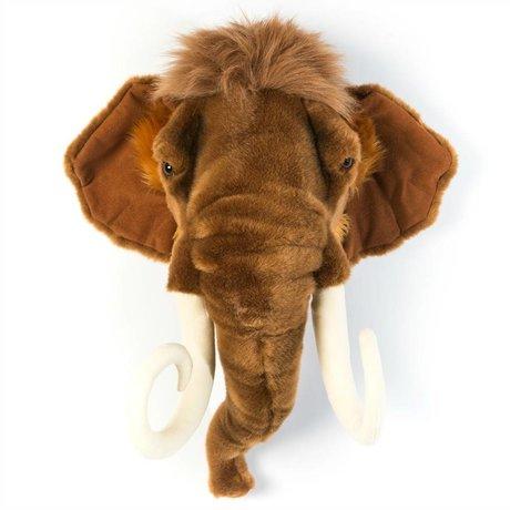 Wild and Soft Animal Mammoth Arthur Brown Textile 24x50x56cm