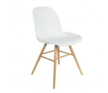 Zuiver Spisebordsstol 51x49x60cm Albert Kuip hvid plast tømmer