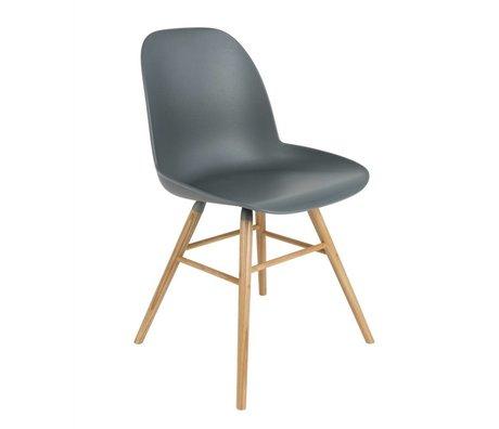 Zuiver silla de comedor Albert Kuip madera plástica gris oscuro 51x49x60cm