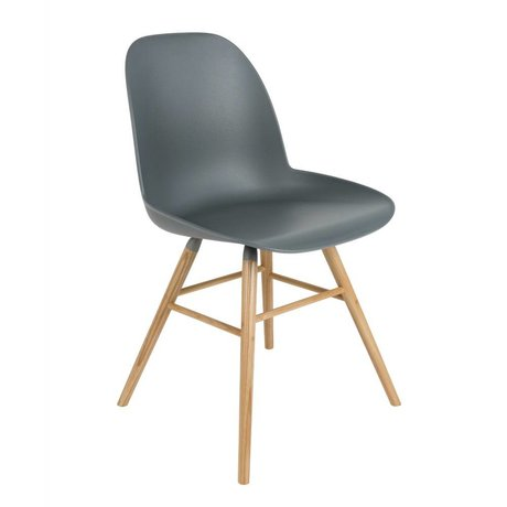 Zuiver Dining chair Albert Kuip plastic wood dark gray 51x49x60cm