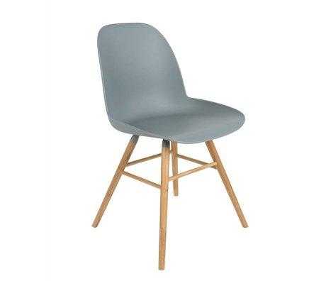 Zuiver silla de comedor Albert Kuip madera plástica de color gris claro 51x49x60cm