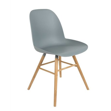 Zuiver Dining chair Albert Kuip plastic wood light gray 51x49x60cm