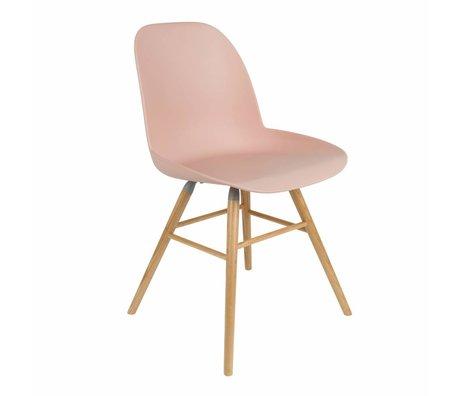 Zuiver silla de comedor Albert Kuip rosa de plástico de madera 51x49x60cm