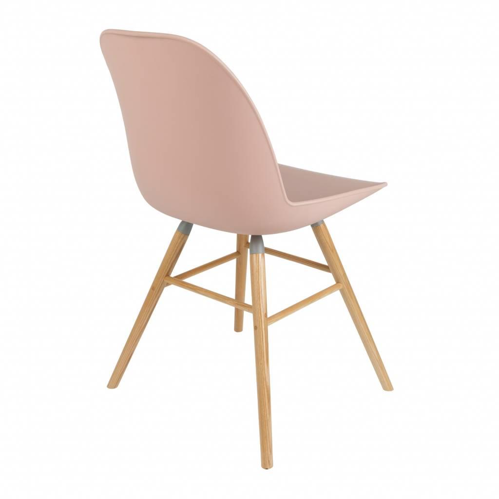 Zuiver silla de comedor albert kuip rosa de pl stico de for Sillas comedor plastico