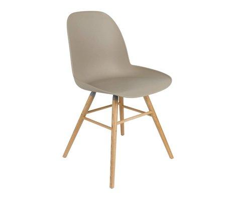 Zuiver silla de comedor Albert Kuip madera plástica marrón 51x49x60cm