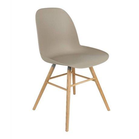 Zuiver Yemek sandalye Albert Kuip plastik ahşap kahverengi 51x49x60cm