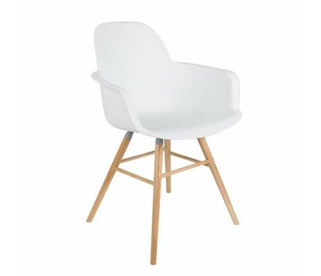 Zuiver Comedor silla 62x56x61cm Albert Kuip de madera de plástico blanco