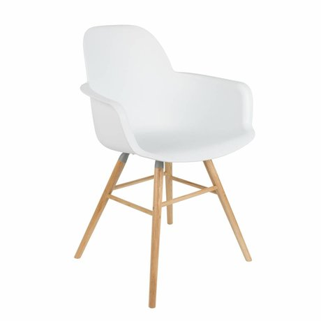 Zuiver Dining chair 62x56x61cm Albert Kuip white plastic timber