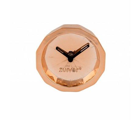 Zuiver Timer Bink kobber, metal kobber med sort hænder 15x15x8,5cm
