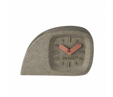 Zuiver Timer Doblo grå plast med messing ringer 15,5 x 4,5 x 10,5 cm