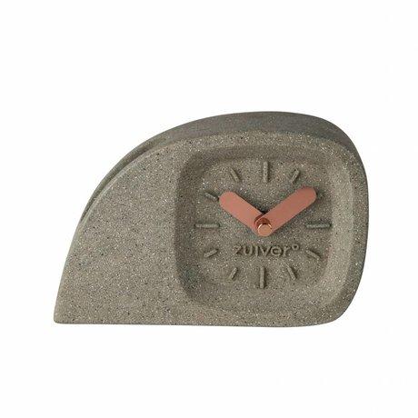 Zuiver plástico gris temporizador Doblo con los diales de bronce 15,5 x 4,5 x 10,5 cm