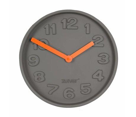 Zuiver Alüminyum turuncu işaretçi 31,6x31,6x5cm gri beton TimeClock turuncu,