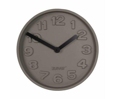 Zuiver Beton Clock Time sort, grå aluminium med sort hænder 31,6x31,6x5cm