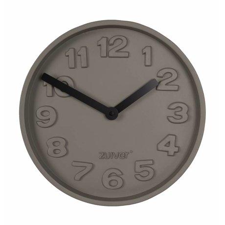 Zuiver Konkrete Clock Time schwarz, grau Aluminium mit schwarzen Händen 31,6x31,6x5cm