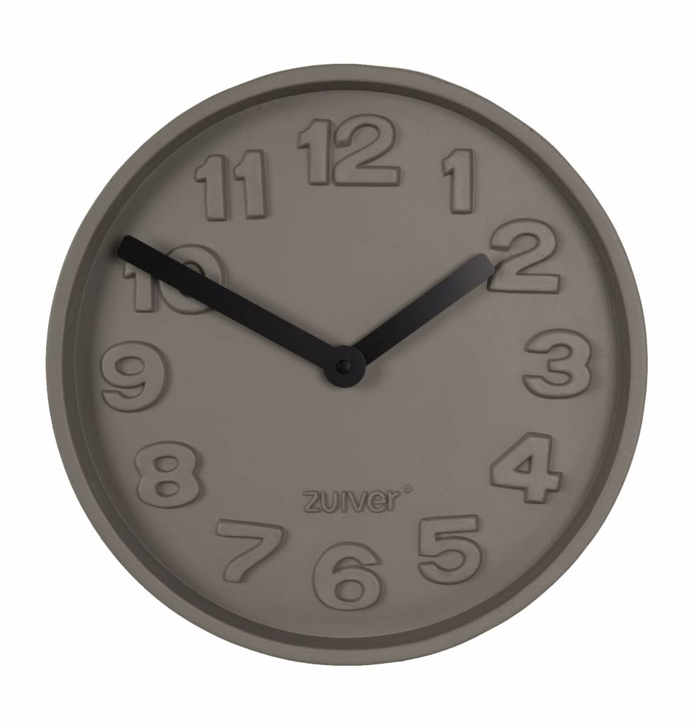 Zuiver concrete clock time black gray aluminum with black hands time is what one reads on the clock said albert einstein times and so it is in this beautiful watch from zuiver you look like not only to read the amipublicfo Image collections