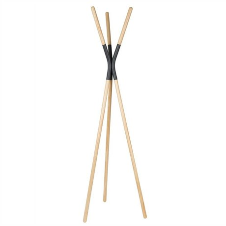 Zuiver Coat rack Pinnacle dunkelgrau, Holz grau 176x59x56cm
