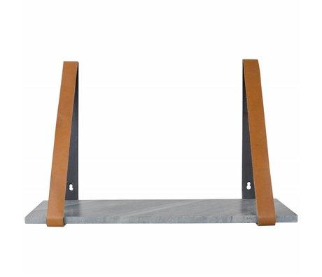 Zuiver estantería de pared Fad mármol gris, mármol gris 50x16x32cm