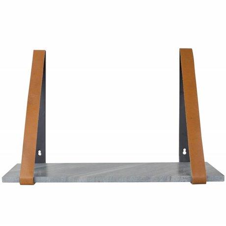 Zuiver Duvar rafı Fad gri mermer, mermer gri 50x16x32cm