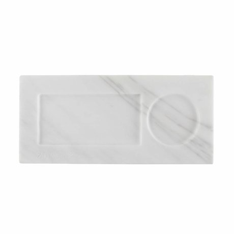 Zuiver Tray marble white, marble white 22x10x1,5cm