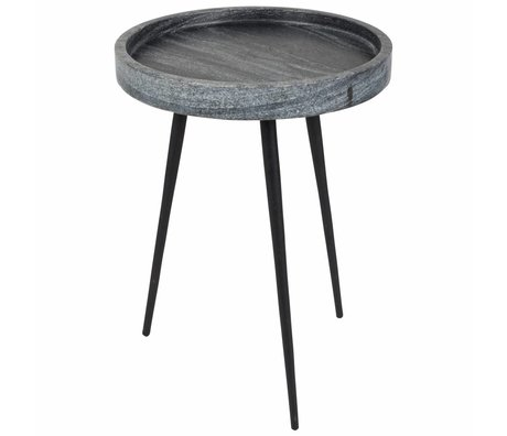 Zuiver Side Karrara gris, marbre gris Ø33x45cm