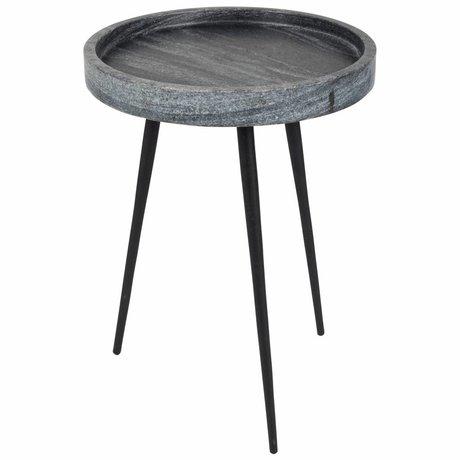 Zuiver Side Karrara grå, grå marmor Ø33x45cm