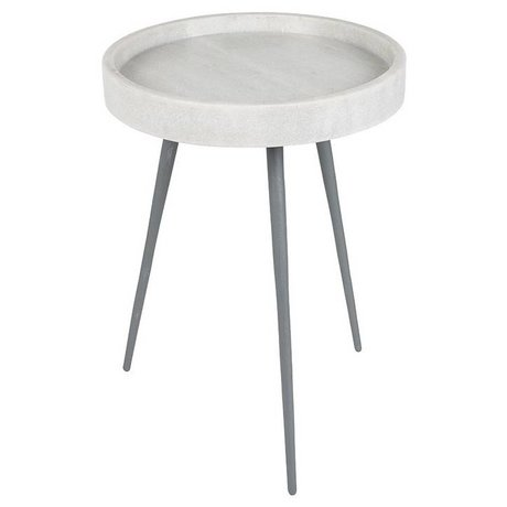 Zuiver Beistelltisch karrara weiß, Marmor weiß Ø33x45cm