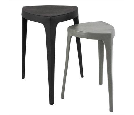 Zuiver Occasional table de Tiga ensemble de gris 2 aluminium 35x35x52,5cm noir