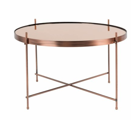 Zuiver Occasional table Cupid large copper metal copper Ø62,5 × 40cm