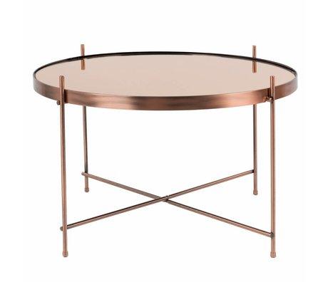 Zuiver Table d'appoint Cupid cuivre grande de cuivre métallique Ø62,5 × 40cm