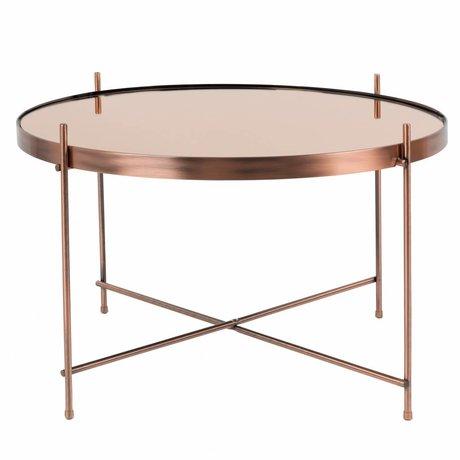 Zuiver Beistelltisch Amor großen Kupfermetall Kupfer Ø62,5 × 40cm