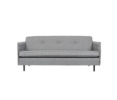 Zuiver Banco Jaey 2,5-asiento textil de metal de color gris claro 181x90x76cm