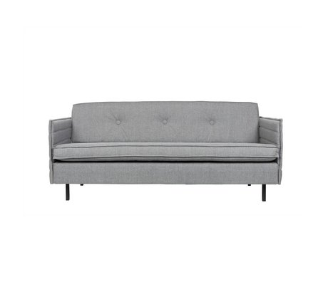 Zuiver Bank Jaey 2.5-seat light gray textile metal 181x90x76cm