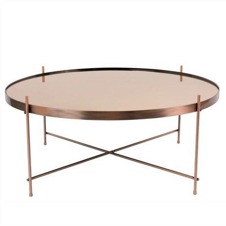 Zuiver Beistelltisch Amor XXL Kupfer, Metall Kupfer Ø82,5 × 35cm