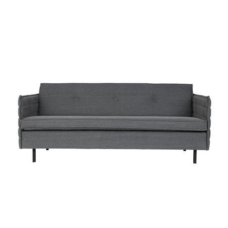 Zuiver Bank Jaey 2,5-seat fabric in dark metal 181x90x76cm