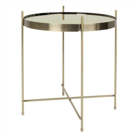 Zuiver Beistelltisch Gold Amor, metallisches Gold Ø43x45cm