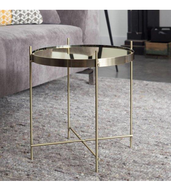 zuiver beistelltisch gold amor metallisches gold 43x45cm. Black Bedroom Furniture Sets. Home Design Ideas