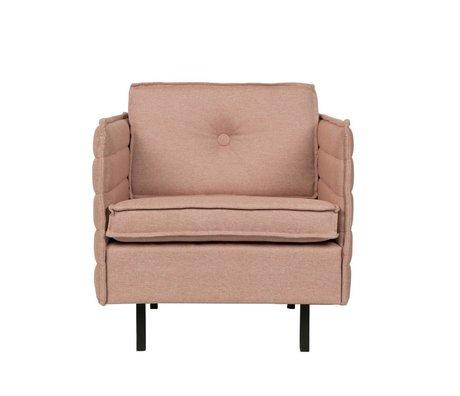 Zuiver Sillón Jaey textil de color rosa de metal 72x90x76cm