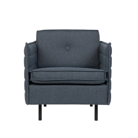 Zuiver Poltrona Jaey grigio azzurro tessile 72x90x76cm metallo