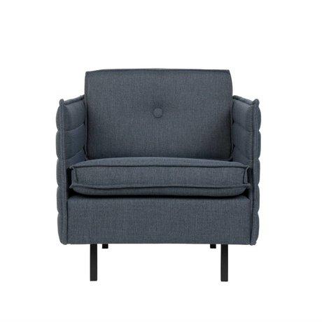 Zuiver Sillón Jaey textil azul-gris de metal 72x90x76cm