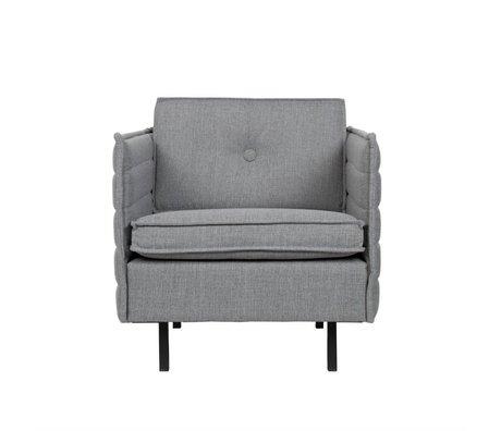 Zuiver Sillón Jaey gris claro textil de metal 72x90x76cm