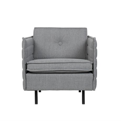 Zuiver Lænestol Jaey lys grå tekstil metal 72x90x76cm